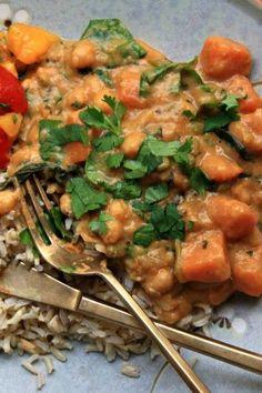 chickpea sweet potato curry