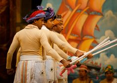 The Tempest in Bangla by Dhaka Theatre     (C) Simon Kane. At Shakespeare's Globe, London.