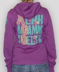 i would love to have this as a zip up!! and maybe not purple! lol but soooo cute