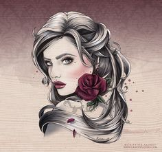 'Mademoiselle Rose'  CRISTINA ALONSO Illustration.  PRINT AVAILABLE: http://cristinaalonso.bigcartel.com/ www.cristinalonso.com www.facebook.com/cristina.alonso.illustrator Cristina Alonso Ilustradora.