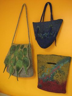 beautifully felted bags by Andrea Grahm