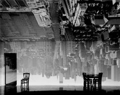 Abelardo Morrell,  Manhattan View Looking South in Large Room, Camera Obscura image, gelatin silver print, 1996