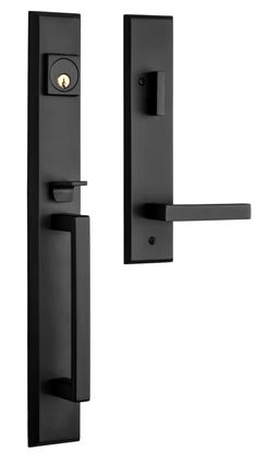 Rockwell U003eLumina Solid Brass Entry Door Handle Set In Bronze Finish