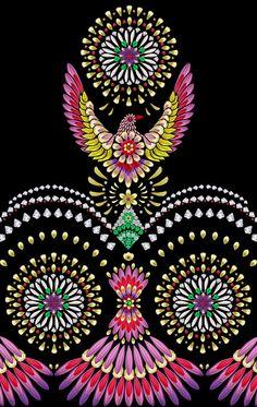 'Flowerbird' Print Design by Elmira Amirova