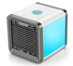 Fitfirst Personal Space Air Cooler 3 in 1 USB Mini Portable Air Conditioner Humidifier Purifier and 7 Colors Nightstand Desktop Cooling Fan for Office Home Outdoor Travel Portable Air Cooler, Humidifier Filters, Air Cooler Fan, Panel Led, Electricity Consumption, Cool Office Space, Air Conditioning Units, Mood Light, Led Licht