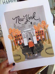 New York Autumn Art Print $40