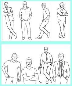 posing for men