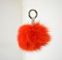 Red Fluffy real Fox Fur Pom Pom very easy to attach by lefushop Fur Pom Pom, Pom Poms, Gifts For Her, Great Gifts, Red Purses, Red Bags, Winter Accessories, Fox Fur, Charmed