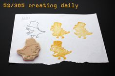 """Project """"365 - creating daily"""" day 51:  this is a stamp that I made for my son  Anke Humpert 2/2014  #365creatingdaily"""
