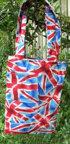 Union Jack print mini Tote Bag by UKChristmasStore on Etsy