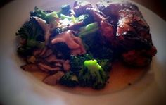 Grilled Soy-Galanga Chicken With Broccoli and Shiitakes
