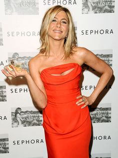 """I Love her perfume! Definitely one of my top picks. Jennifer Aniston promotes her eponymous fragrance – which she says has notes of """"pure happiness""""!"""