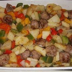 Sausage, Peppers, Onions, and Potato Bake - Allrecipes.com