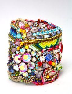 Custom Diamonds are a Girls Best Friendship Cuff by DolorisPetunia, $500.00