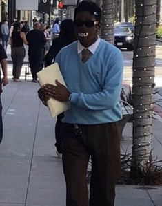 Tyler The Creator Fashion, Tyler The Creator Outfits, Blue Aesthetic, Aesthetic Clothes, Celebrity Dads, Celebrity Style, Trinidad James, Ace Hood, Mrs Carter