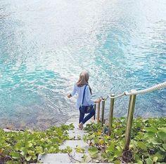 #Lake #hijab_girl #blue hijab girl dp