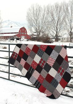 Black and Red plaid flannel quilt - Diary of a Quilter - a quilt blog                                                                                                                                                                                 More