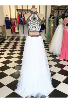 2 Piece Prom Gown,Two Piece Prom Pieces Party Dresses,Tulle Evening Gowns,Formal Dress Evening Dresses Two Piece, Prom Dress Prom Dresses 2019 Two Piece Evening Dresses, Evening Gowns, Evening Party, Two Piece Gown, 3 Piece, Prom Dresses 2017, Party Dresses, Dress Prom, Dress Long