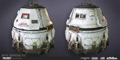 ArtStation - Call of Duty: Advanced Warfare | Orbital Care Package Pod, Katie Sabin
