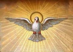 Today we celebrate Pentecost- the descent of the Holy Spirit into the apostles and believers. Because the Spirit dwells within us we have access to Divine power and knowledge. Spiritual Images, Religious Images, Religious Art, Santas Tattoo, Holy Spirit Images, Holly Spirit, Religion, Peace Dove, Church Banners