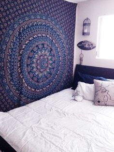 Buy Multicolor Indian mandala hippie tapestry wall hanging at Royal Furnish at best price. To enhance interior use Indian tapestries those are available into different designs, colors & styles.