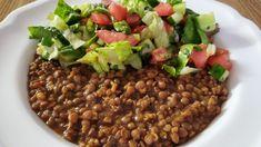 طريقة تحضير مجدرة حمرا جنوبية Best vegan mujadara hamra - YouTube Lebanese Recipes, Beans, Dishes, Vegetables, Food, Lebanese Cuisine, Plate, Meal, Beans Recipes