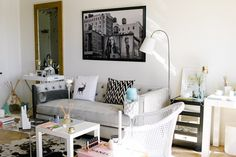 Lauryn's 'Glam Meets Bohemian' San Diego Home   cute little teepee hideaway in the corner for kitty!