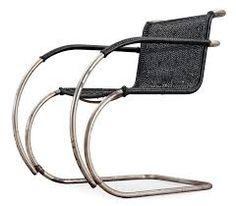 Love the black wicker on the MR Chair by Mies Van Der Rohe Bauhaus Interior, Ludwig Mies Van Der Rohe, Wicker, Armchair, Furniture Design, Contemporary, Steel, Accessories, Black
