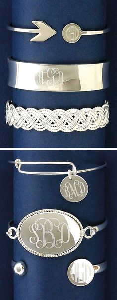 Monogramed bracelets | Initial Outfitters