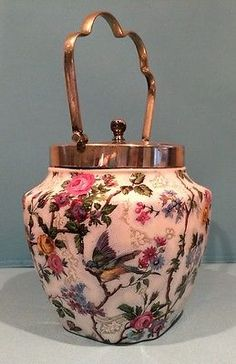Royal Tudor Ware Barker Bros Ltd England Chintz Lorna Doone Biscuit Jar
