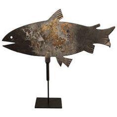 Early 20th Century Fish Weathervane