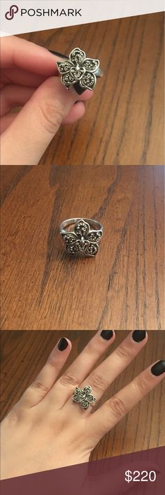 Lois Hill sterling silver ring Lois Hill sterling silver intricate flower detail ring. Stamped LH for Lois Hill on back of band. Size 6.5 Lois Hill Jewelry Rings