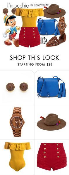 """""""Pinocchio"""" by leslieakay ❤ liked on Polyvore featuring Yossi Harari, Earth, Sensi Studio, Sans Souci, Pierre Balmain, Vince, disney, disneybound and disneycharacter"""