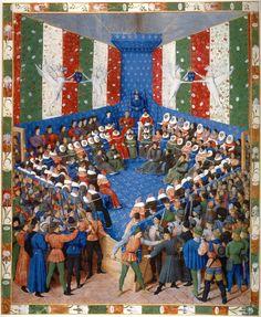 Bayerische Staatsbibliothek, München - Jean Fouquet - Proces van de hertog van Alençon