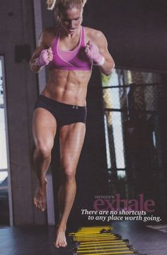 Dang girl! Those abs look awesome! Really great workouts.