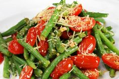 Coconut Sautéed Green Beans with Tomatoes (paleo)