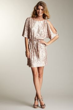 Hauteur | Jessica Simpson Sequin Boat Neck Dress