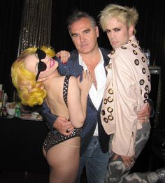 Lady Gaga, Morrissey and Justin Tranter of Semi-Precious Weapons photo - Rolling Stone - Morrissey-solo