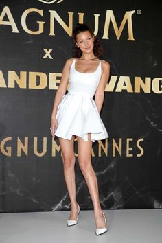 Bella Hadid attends the Magnum photocall at the 2018 Cannes Film Festival