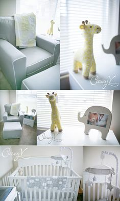 neutral baby nursery, gray baby nursery. Easy to add some pink or blue after the little one is born!
