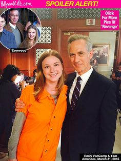 Emily Van Camp and Tom Amandes   - Then (Everwood) and Now (Revenge)