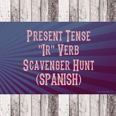 Señora Baxter's Spanish Class: Present Tense Scavenger Hunt