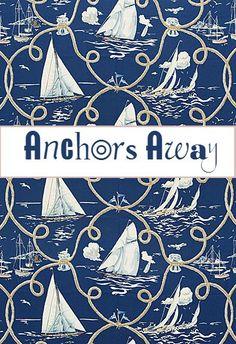Nautical - Blue, White - Anchors Away!