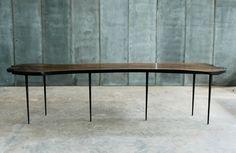 Table LARS ZECH - Italian walnut / metal