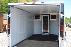 enclosed trailer motorcycle   14 Black Enclosed V-Nose Cargo Trailer / Motorcycle Trailer