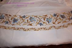 Bishop Sticharion Podsaccosnik Embroidered Floral Pattern #15 Gold or silver picclick.com