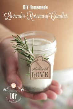 DIY Homemade Lavender Rosemary Candles. You will surely love that your house is filled with a lovely smell of lavender. These homemade lavender rosemary candles are pretty simple and easy to make.