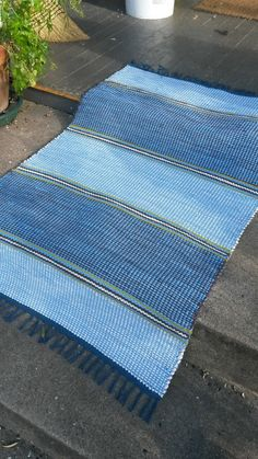 The Swedes have it Floor Cloth, Floor Rugs, Homemade Rugs, Recycled Fabric, Woven Rug, Colorful Rugs, Lana, Beach Mat, Hand Weaving