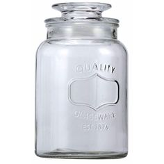 Lend a chic appeal to your glassware with the 1-Quart Mason Jar Container. Made from quality glass, this container is completely food safe and can be used to store spices, candies, etc., as per your preference. It is styled with embossed design all over and come with a glass lid on the top. It is 100% dishwasher safe and extremely easy to clean and maintain.
