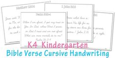 After publishing my Kindergarten Bible Verse Handwriting Worksheets, I had several requests for Cursive Bible Verse worksheets, so that's what I have for you today! many of you know already, there is a weekly bible memory verse in the K4 Kindergarten curriculum, and so I've also added in some fun handwriting practice which will also…Read More